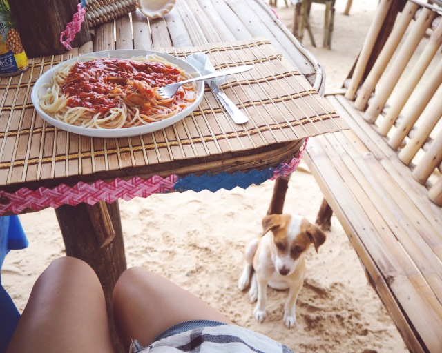 Lunch at Catian Beach Bar & Restaurant with the locals