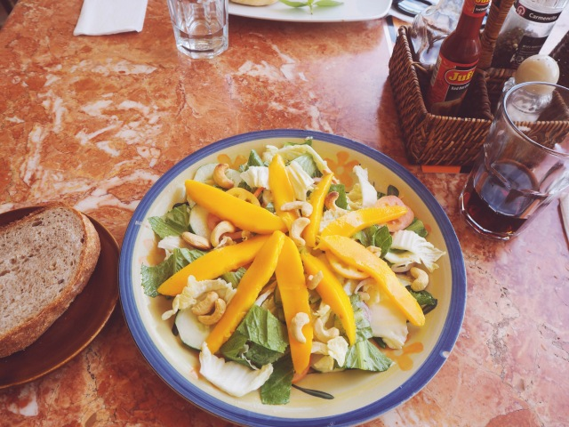 Amazing mango salad at El Nido Boutique and Art Cafe